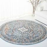 Lauren Ralph Lauren Fleur Oriental Ivory/Area Rug Polyester in Blue, Size 93.0 W x 0.25 D in | Wayfair LRL1355A-8
