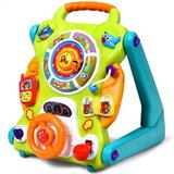 Costway 3 in1 Kids Activity Sit to Stand Musical Learning Walker
