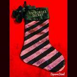 Pink Victoria's Secret Holiday   Brand New Victorias Secret Pink Sequins Stocking   Color: Black/Pink   Size: Os