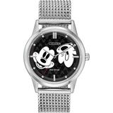 Disney By Eco-drive Unisex Mickey Mouse Bracelet Watch 40mm - Metallic - Citizen Watches