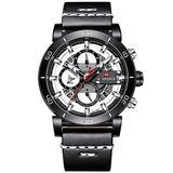 [Watches for Men ] NAVIFORCE 9131 Mens Watch - Business Fashion Luxury - Digital Quartz Dual Time Display - Casual Japanese Quartz Watches (01)