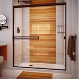 "Arizona Shower Door 61"" x 67"" Bypass Semi-Frameless Shower Door Tempered Glass in Brown, Size 67.375 H in   Wayfair SE61X6738ORCL"