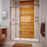"Arizona Shower Door 61"" x 67"" Bypass Semi-Frameless Shower Door Tempered Glass in Gray, Size 67.375 H in | Wayfair SE61X6738BNCL"