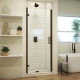 "Arizona Shower Door MP Swinging 26"" W x 73"" H Semi-Frameless Shower Door Tempered Glass in Brown, Size 72.625 H in   Wayfair MP26X72AOBCL"