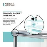 """Arizona Shower Door Lese 53"""" x 67"""" Bypass Semi-Frameless Shower Door Tempered Glass in Gray, Size 67.375 H in 
