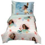 Disney Moana 4 Piece Toddler Bedding Set Polyester in Blue/Green | Wayfair 2592416