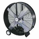 Comfort Zone Belt-Drive Drum Blower Fan in Black, Size 46.5 H x 45.3 W x 15.0 D in   Wayfair CZMC48B