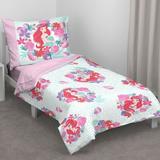Disney Ariel Sea Garden 4 Piece Toddler Bedding SetPolyester in Blue/Pink   Wayfair 7336416