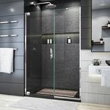 "DreamLine Elegance Plus 51.75 "" W x 72"" H Pivot Frameless Shower Door w/ ClearMax Glass Treatment Tempered Glass in Gray, Size 72.0 H in   Wayfair"