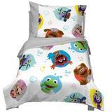 Disney Muppet Babies Friendship 4 Piece Toddler Bedding Set Polyester in Gray | Wayfair 3415416
