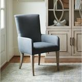 Barclay Butera Malibu Upholstered Dining Chair w/ ArmsUpholstered/Fabric in Blue/Black/Brown, Size 40.5 H x 24.25 W x 27.75 D in | Wayfair