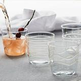 Mariposa Applique Suite of Double Old Fashion 4 Piece Assorted Glassware Set Glass in White, Size 3.258 H x 3.0 W in | Wayfair 6526