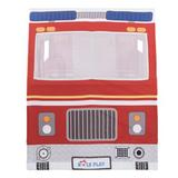 Role Play Deluxe Fire Truck Play Tent Cotton in Gray/Red, Size 42.0 H x 34.0 W x 58.0 D in | Wayfair 370044