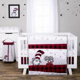 Trend Lab Dr. Seuss Lumberjack Cat in the Hat 5 Piece Crib Bedding Set Cotton in Black/Red, Size 45.0 W in | Wayfair 30761