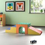 ECR4kids Softzone® 3 Piece Climber Set Foam/Vinyl/Plastic in Green/Blue/Yellow, Size 15.0 H x 60.0 W x 20.0 D in | Wayfair ELR-12717