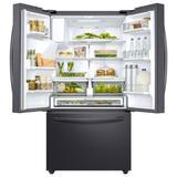 "Samsung 36"" French Door 22.6 cu. ft. Smart Energy Star Refrigerator in Black, Size 70.0 H x 35.75 W x 31.0 D in | Wayfair RF23R6201SG"