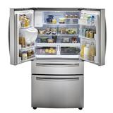 """Samsung 36"""" French Door 28 cu. ft. Smart Refrigerator w/ FlexZone Drawer & Wi-Fi Connected in Gray, Size 70.0 H x 35.75 W x 36.5 D in 