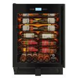 Vinotemp 41 Bottle Single Zone Freestanding/Built-In Wine Refrigerator in Black, Size 34.37 H x 25.5 W x 23.5 D in | Wayfair EL-WCU110-02