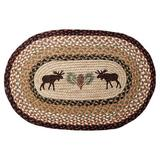 Millwood Pines Rufina Moose/Pinecone Printed Area Rug in Brown, Size 30.0 H x 20.0 W x 0.2 D in   Wayfair 65-019MP
