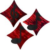 Winston Porter 3 Piece Music Diamonds Wall Decor Set Metal in Red | Wayfair 796762868513