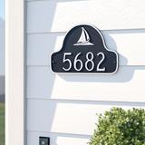 Sol 72 Outdoor™ Asherton 1-Line Address Plaque Metal in Black, Size 11.0 H x 15.5 W x 0.25 D in | Wayfair BRWT1767 27228363