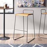 m.a.d. Furniture Transit Bar & Counter Stool Wood/Metal in White/Black, Size 33.5 H x 18.5 W x 20.07 D in | Wayfair G8B-BLK-BLASH