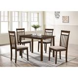 Red Barrel Studio® Maria 5 - Piece Solid Wood Dining Set Wood/Upholstered Chairs in Brown, Size 29.13 H x 27.6 W x 43.31 D in | Wayfair