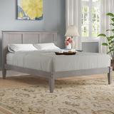 Three Posts™ Faringdon Solid Wood Platform Bed Wood in Gray, Size 60.0 W x 80.0 D in | Wayfair 95A1C1A432E244319FEA0E5AC3E53D67
