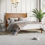 George Oliver Haubrich Platform Bed Wood in Brown/Green, Size 80.5 W x 90.5 D in | Wayfair 188E3BB9F6B941A38F85A8E0477E7BD3
