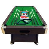 Simba USA Inc Snooker Full Set Accessories Pool Table Manufactured Wood in Green/Brown, Size 31.5 H x 98.0 W in | Wayfair 0762179102366