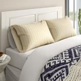 Langley Street® Austen Woven Pillow Case Microfiber/Polyester/Microfiber in Blue, Size King | Wayfair 264EF94CE16244A8AED2142E7AE1E11A