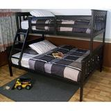 Swainsboro Solid Wood Bunk Bed by Zoomie Kids Wood in Black, Size 59.0 W x 79.0 D in   Wayfair 22F92DB22A364882AD0A7092F9A40039