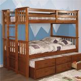 Viv + Rae™ Callas Bunk Bed Wood in Brown, Size 43.0 W x 80.25 D in | Wayfair FBA413E4D5E345C19EE25B13FBCA9D95