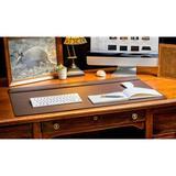 Ebern Designs Bramfield Top-Rail Desk Pad Leather in Brown, Size 0.5 H x 34.0 W x 20.0 D in | Wayfair P3421