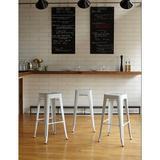 Brayden Studio® Blaney Counter & Bar Stool Metal in White, Size 30.0 H x 17.0 W x 17.0 D in   Wayfair E9A5FF72CDB64AF88DF771B0C7F0FF1F