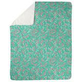 Latitude Run® Avicia Swirly Floral Blanket Fleece & Microfiber in Pink, Size 82.5 H x 62.5 W in   Wayfair DBDD12EA21E64C118918E7ABA0B56C8A