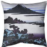 East Urban Home Katsushika Hokusai Dawn at Isawa in Kai Province Throw Pillow Cotton in Indigo, Size 16.0 H x 16.0 W x 1.0 D in   Wayfair