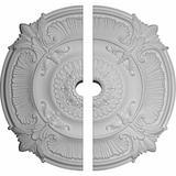 Astoria Grand Gailey Acanthus Leaf Ceiling Medallion, Size 53.5 H x 53.5 W x 3.5 D in   Wayfair CM53AT2-05000