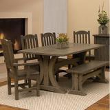 Union Rustic Devereaux 6 Piece Dining Set Wood in Brown, Size 30.0 H x 42.0 W x 60.0 D in | Wayfair 86F26A5576F8494E93D514CAE3237BF1