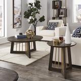 Brayden Studio® Brucker 2 Piece Coffee Table Set Wood/Metal in Brown/Gray, Size 17.7 H x 39.4 W in   Wayfair 7D1DAE2552764700AAD3BCAAF088EC3B