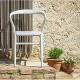 TOOU Joi Twenty-four Upholstered Stacking Dining Chair Plastic/Acrylic/Upholstered in White/Brown, Size 32.0 H x 22.0 W x 21.0 D in | Wayfair