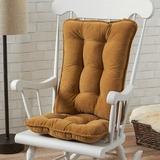 Mistana™ Indoor Rocking Chair Cushion Synthetic in Brown, Size 3.0 H x 17.0 W x 22.0 D in | Wayfair 5ACA828C77394560BE8744D145CDD1CC