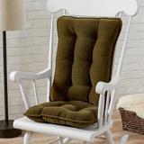 Mistana™ Indoor Rocking Chair Cushion Synthetic in Green, Size 3.0 H x 17.0 W x 22.0 D in | Wayfair 4EEC1077DB734FA48929F2BB1C15BBBF