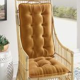 Mistana™ Indoor Rocking Chair Cushion Synthetic in Brown, Size 3.0 H x 18.0 W x 28.0 D in | Wayfair 608C46E5955143AC8D14A284C1A8621E