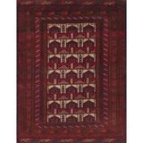 Bloomsbury Market Glenham Traditional Dark Red/Beige Area Rug Polyester/Wool in White, Size 36.0 H x 24.0 W in | Wayfair