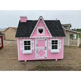 Little Cottage Company Victorian Playhouse Wood in Black/Brown/Pink, Size 72.0 W x 48.0 D in | Wayfair Victorian DIY Kit 4x6