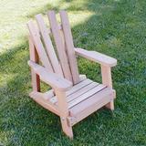 August Grove® Tillison Child Adirondack Chair Wood in Brown, Size 25.0 H x 19.5 W x 18.5 D in | Wayfair WF5000CVD