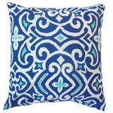 Winston Porter Ghore Damask Bedding Sham 100% Cotton in Blue, Size 30.0 H x 20.0 W x 5.0 D in | Wayfair QUEEN-ROB-NEWDAMASK-MARINE-C100