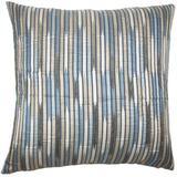 Latitude Run® Silview Striped Bedding Sham Polyester in Blue/Gray, Size 26.0 H x 26.0 W x 8.0 D in | Wayfair EURO-BAR-MER-M9901-SHORE-R51P49