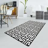 World Menagerie Rewis Area Rug Polyester in Black/Gray, Size 118.0 H x 39.0 W x 0.4 D in | Wayfair BF2AF57175944B4CBBCEED9274F5F7F9